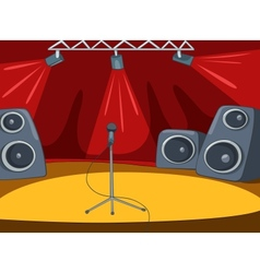 Rockroll stage cartoon vector