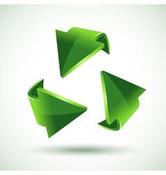 green recycling arrows vector image