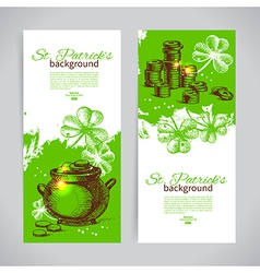 Set of st patricks day banners vector