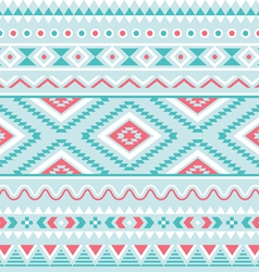 Tribal seamless pattern aztec blue background vector