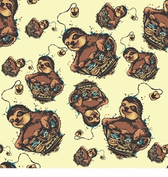 Abstract sloth pattern backgroun vector