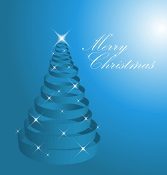 blue abstract christmas vector image