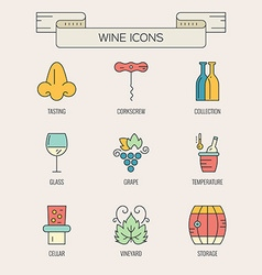 Wine elements vector