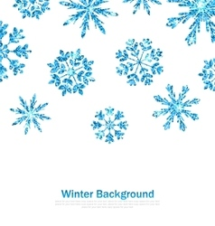 Winter background with sparkle snowflakes vector