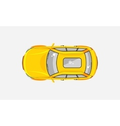 Sedan car top view vector