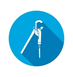 Screw adjustable spanner wrench key icon repair vector