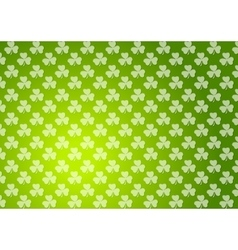 Clovers shamrocks green abstract texture vector image