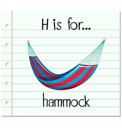 Alphabet h is for hammock vector