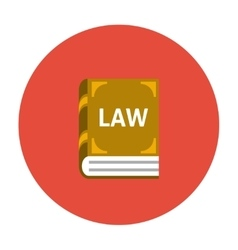 Law book icon flat vector