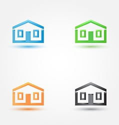 Abstract house real estate symbol - building house vector