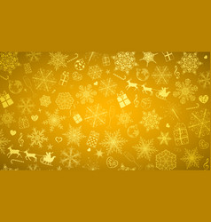 background of snowflakes and christmas symbols vector image