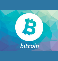 bitcoin blockchain criptocurrency logo vector image vector image