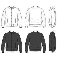 Bomber jacket vector image vector image