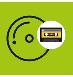 Cd compact music cassette tape vector