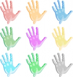 colorful hand vector image vector image