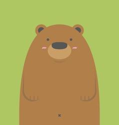 cute big brown bear vector image vector image