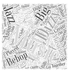 Dizzy gillespie word cloud concept vector