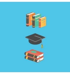 Education and knowledge concept book vector image