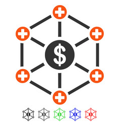 Financial medical network flat icon vector
