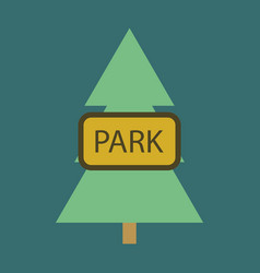 Flat icon city park vector