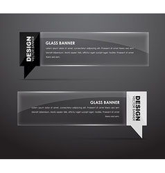 Glass banners with quote bubble vector image