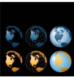 globe designs vector image vector image