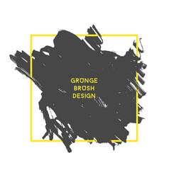 grunge brush banner vector image vector image