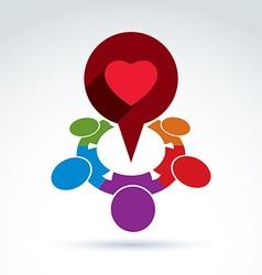 Heart and society icon medical organization vector