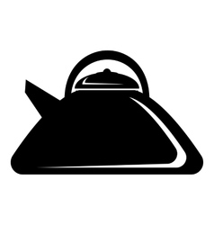 Heating kettle icon simple style vector