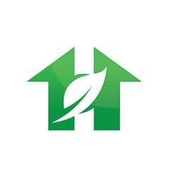 House ecology environment logo image vector