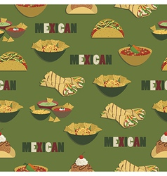 Mexican food pattern vector