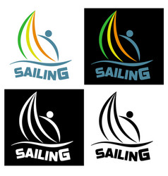 Sailing icon for sports competitions vector