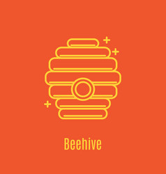thin line icon beehive vector image