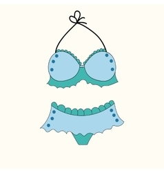 underwear swimsuit panties colored cartoon summer vector image vector image
