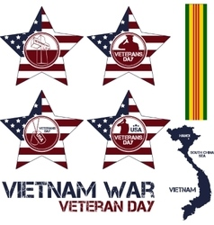 Vietnam war Remembrance day vector image vector image