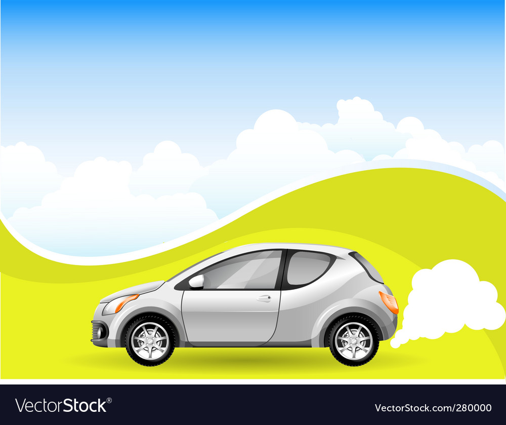 Alternative energy car vector