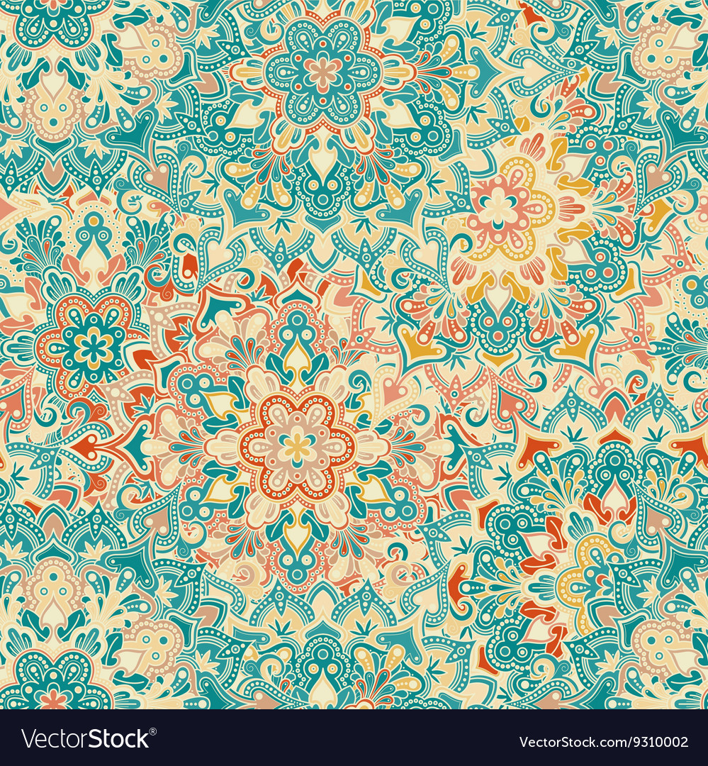 Boho flower pattern vector