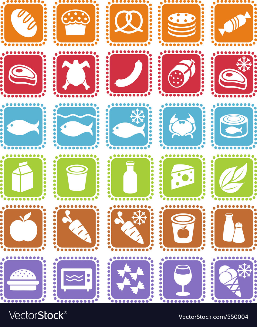 Grocery icons vector
