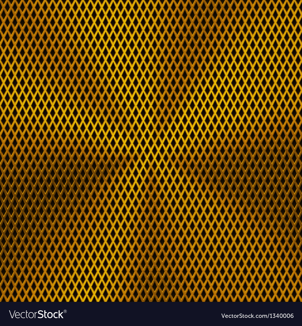 Background with lozenge pattern and gold texture vector