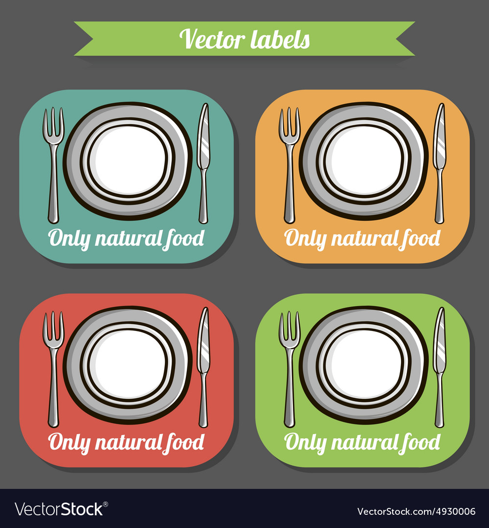 Tableware7 vector