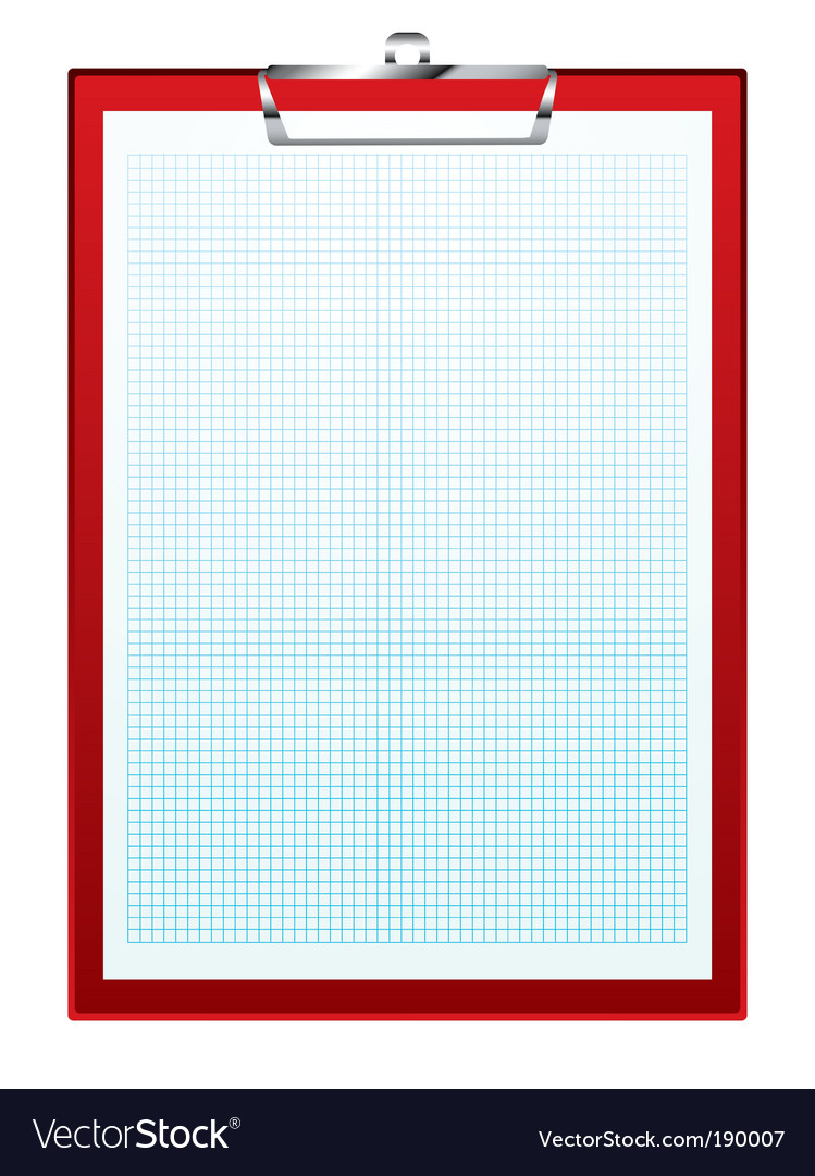 Clip board graph paper vector