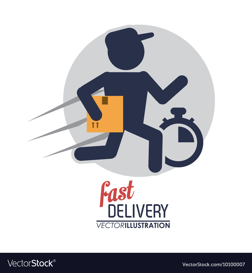 Delivery man icon delivery and shipping vector