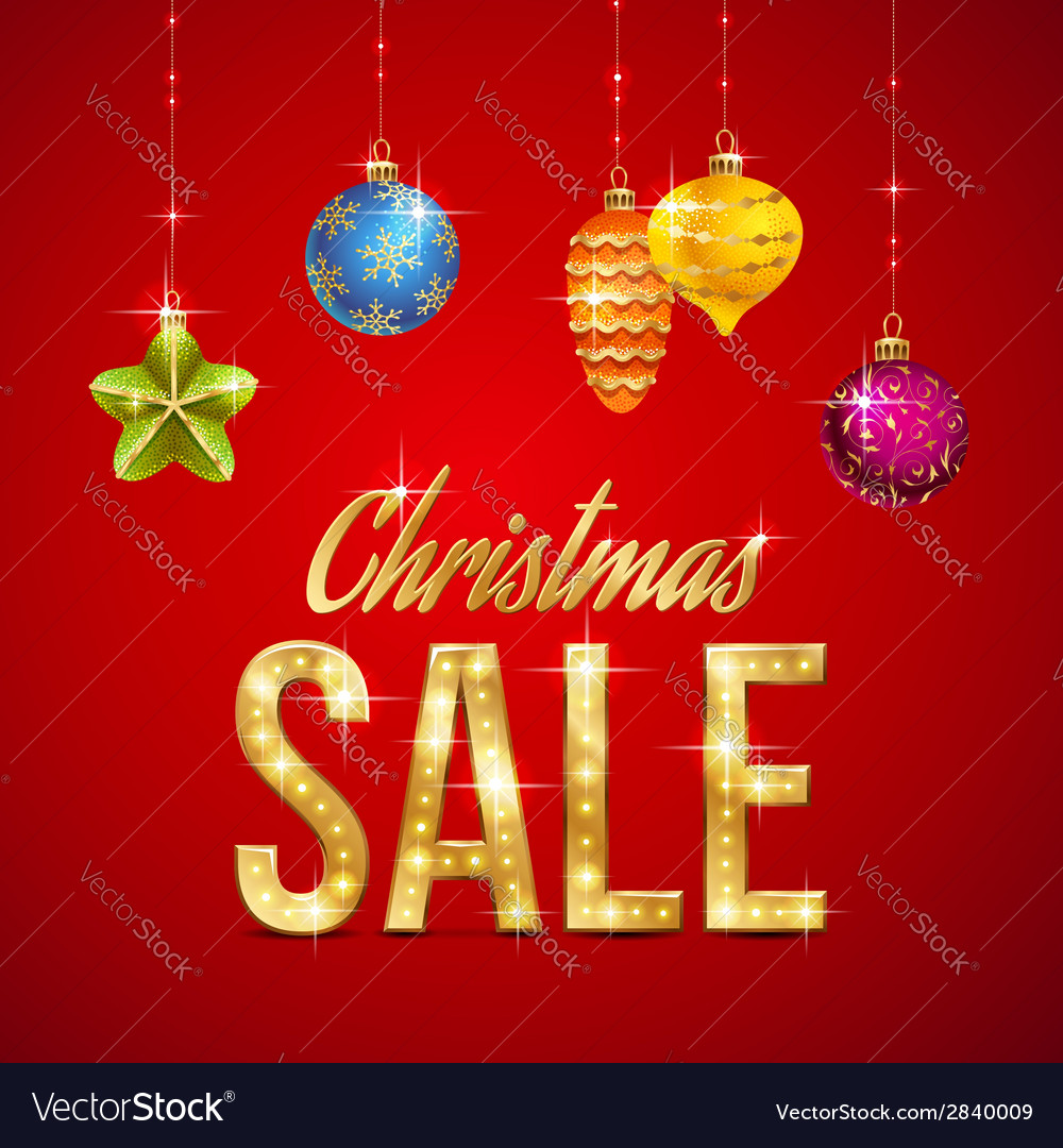 Flash sale christmas vector
