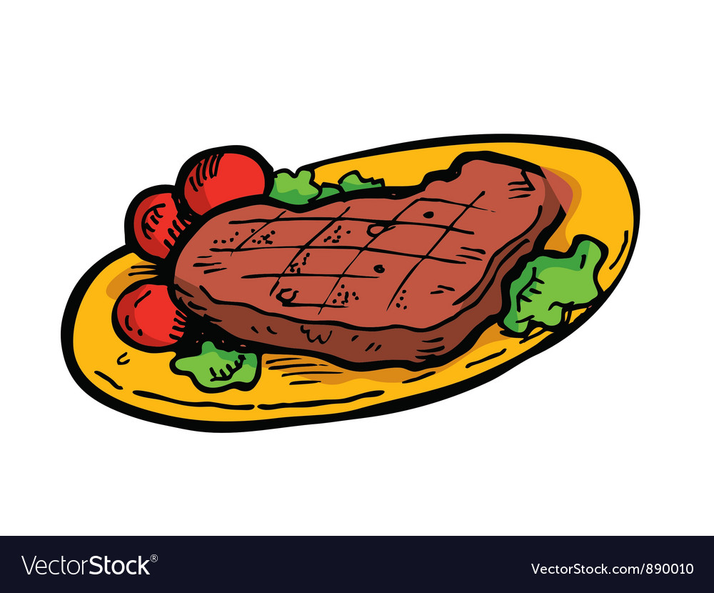 Beef steak vector