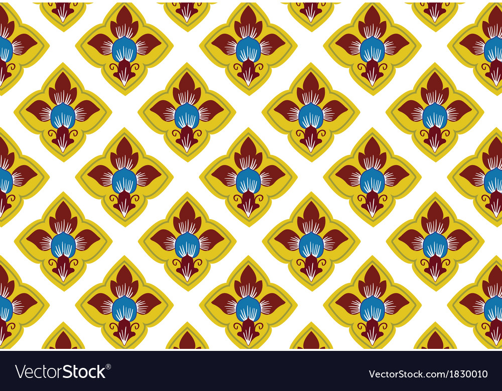 Thai traditional style art pattern vector