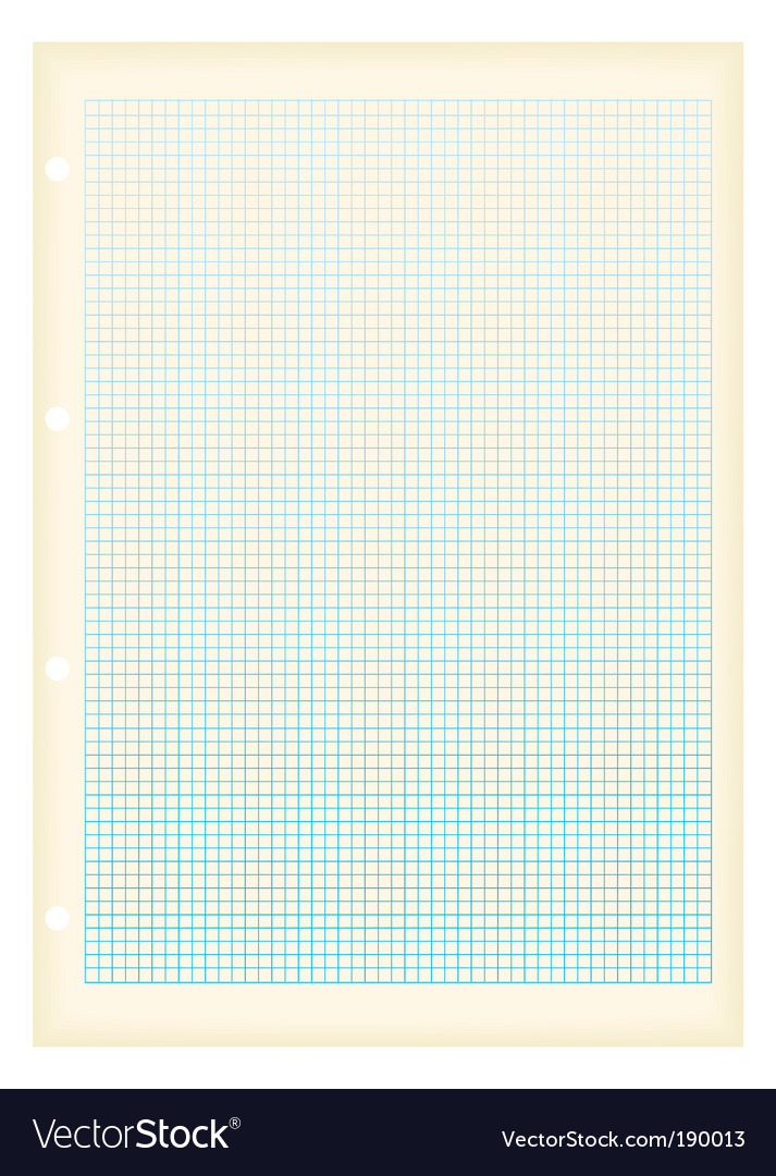 Graph paper squares vector