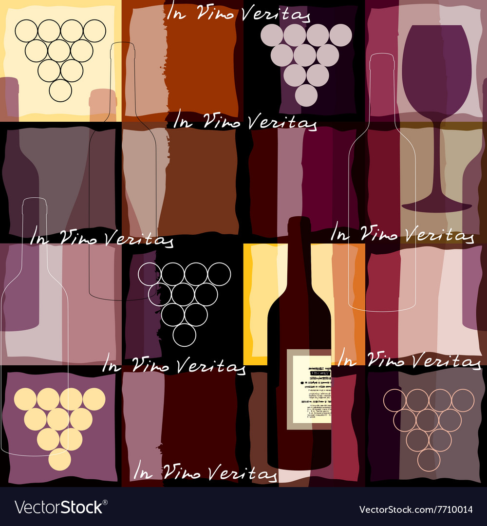 In vino veritas vector