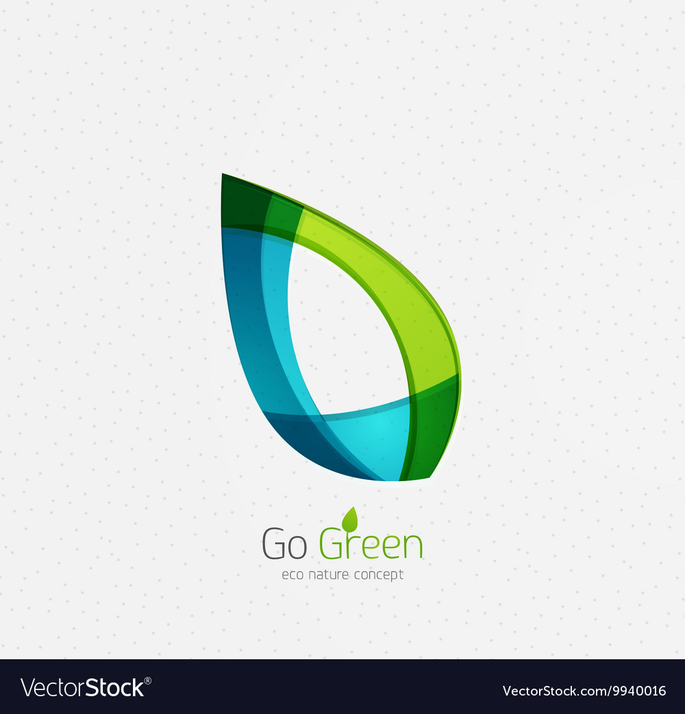 Eco nature leaf go green environmental concept vector