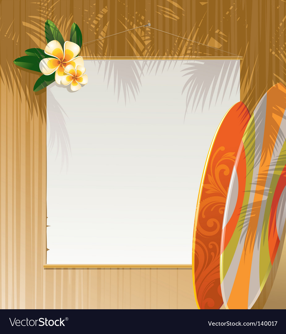 Floral surfboards vector