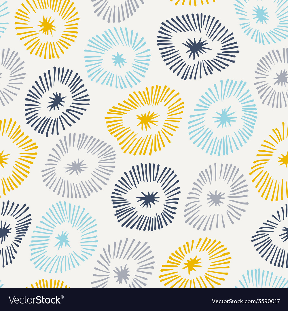 Seamless pattern with flowers on white background vector